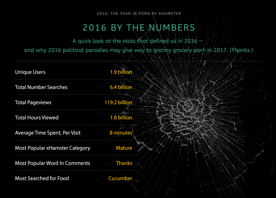 xHamster presents The Year in Porn: 2016